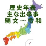 日本の歴史年表と主な出来事まとめ 紀元前~2000年代まで